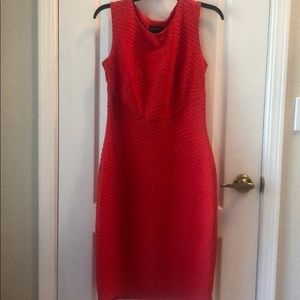 Red EnFocus Bodycon Midi Dress Sz 8 New